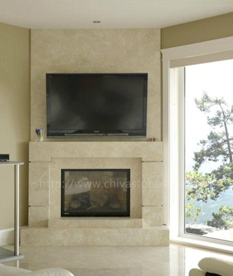 Fp007 Simple Fireplace Surround Custom Marble Stone Mantel