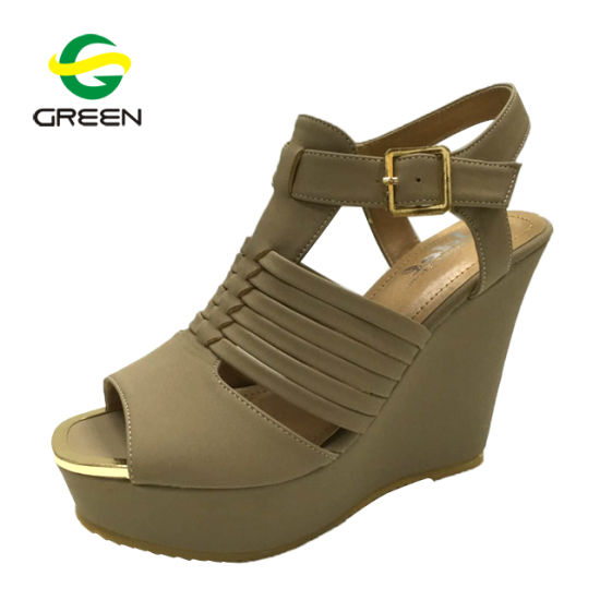 62f59480b China Top Quality Rip Tape Lace up Wholesale Fashion Lady Wedge Sandals -  China Ladies New Fashionable Sandals