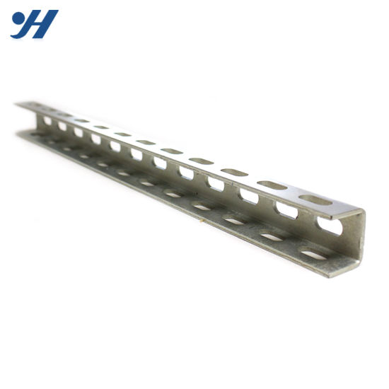 Cold Bending Steel Structure Hanging Double Unistrut Channel, Outdoor U  Channel Steel
