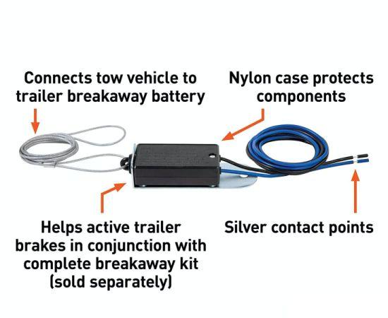 China 12v Dc Trailer Electric Breakaway Switch China Electric Break Away Switch Isolation Switch