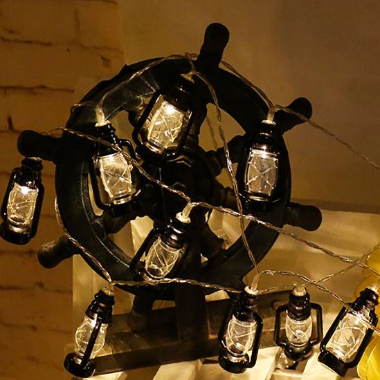 LED String Kerosene Bottle Lights Halloween Yard Decor Lamp Retro Horse Lantern