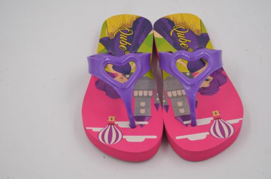 eb6369a9b Fancy Girls Sandals with Buckle Design Children Cork Slippers Casual Flip  Flops