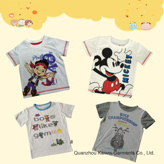 Infant Prined Short Sleeve T-Shirt pictures & photos