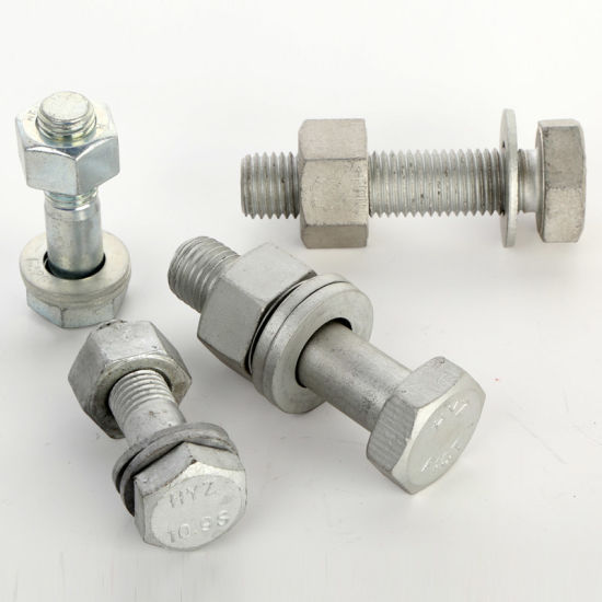 Alloy Steel Hot Dipped Galvanized Steel Structural Bolt ASTM A325