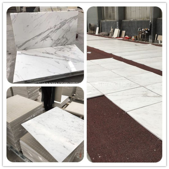 White Cararra Natural Stone Grey/Black/Beige Granite/Quartz/Travertine/Marble Floor/Wall/Flooring/Mosaic/Paving Slab/Tile for Project