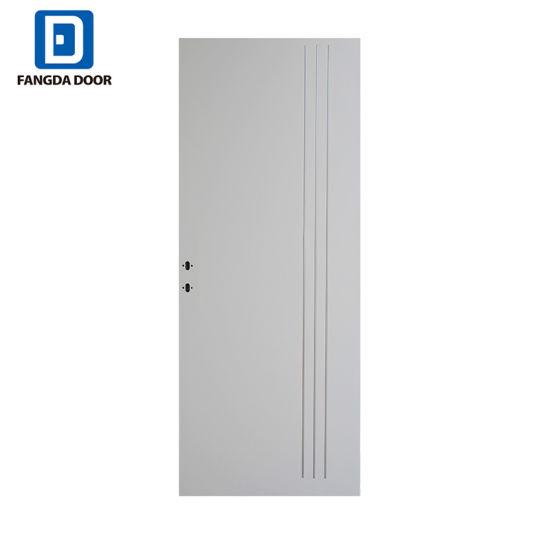 China Fangda Aluminum Strips Steel Door Modern Aluminum Entry Door