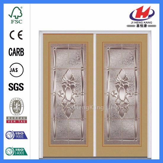 China 5 Panels Model Mountain Grain Wood Glass Door China Door