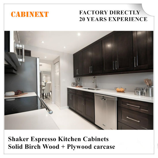 Ordinaire Shaker Espresso Kitchen Cabinets Solid Wood Factory Directly