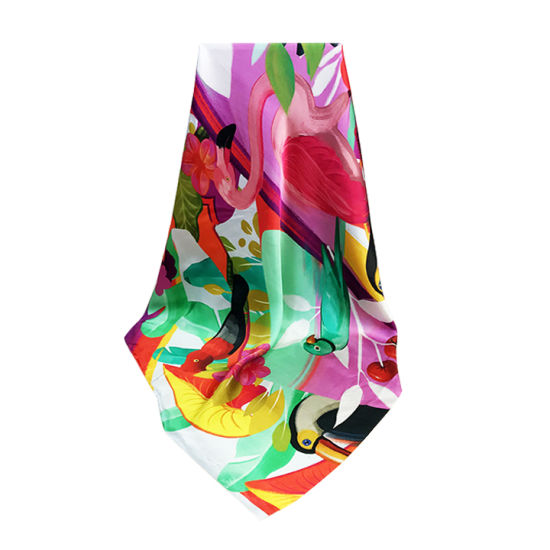 Uk Company Journey Flamingo Silk Scarf