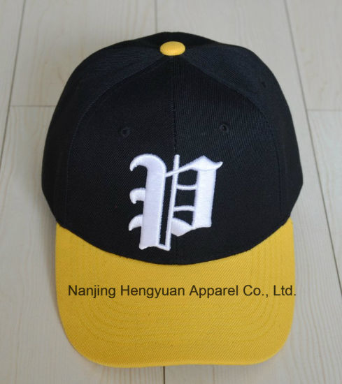 Contrast Colour Baseball Cap with 3D Thick Embroidery (HY16071608)