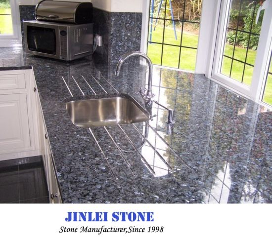 Polished Natural Blue Pearl Granite/Marble Tiles for Bathroom Wall/Kitchen Wall/Flooring/Countertop