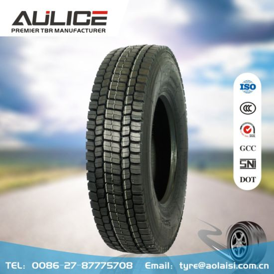 Ar8181 12r22.5 All Steel Tubeless Tyre/Tire, TBR Tyre with High Mileage
