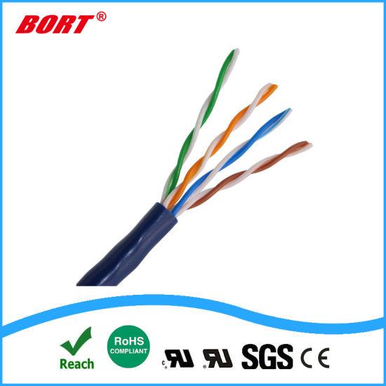 China 24AWG Copper LSZH PVC Cat5 CAT6 UTP Cable 1000FT 305m Color ...