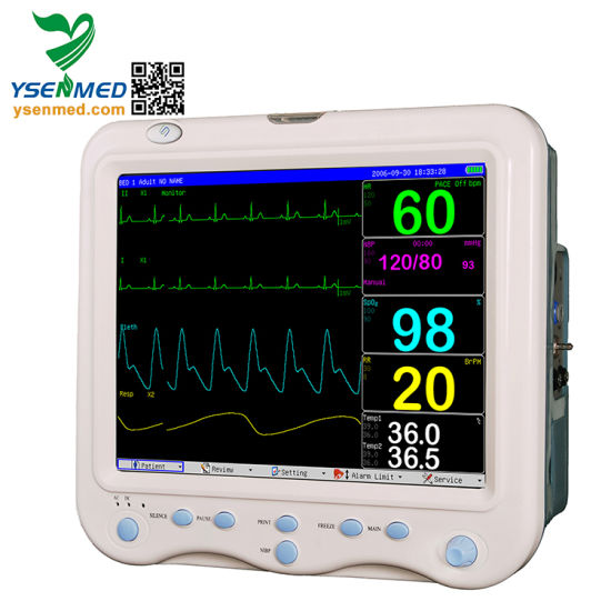 Ysf15 Hospital 15 Inches Color LED Screen Multiparameter Patient Monitor pictures & photos