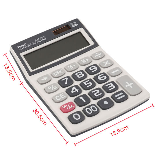 MSC Battery//Solar 12-Digit Small Calculator Ideal Stationery for School//Office 2
