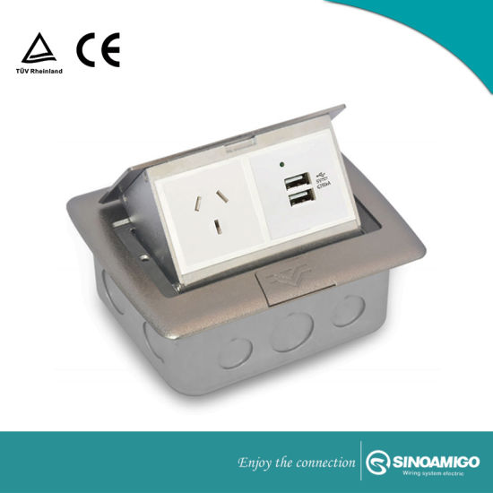 with USB Charger Universal Electric Socket Floor Box