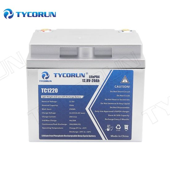 Tycorun 12V 20ah Long Life Lithium Batteries Solar Battery Pack Widely Used for Electric Scooter