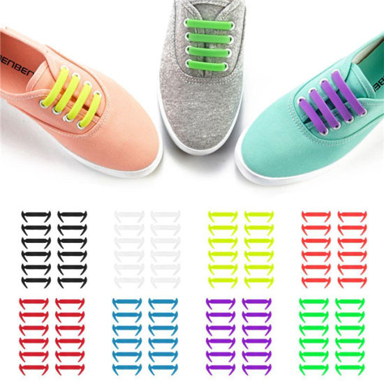 Talent Fashion Kids Adults Tieless Elastic Silicone No Tie Shoelaces