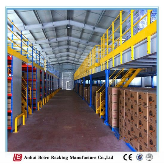 Steel Mezzanine Floor Industrial Metal Storage Mezzanine Platform Rack & China Steel Mezzanine Floor Industrial Metal Storage Mezzanine ...