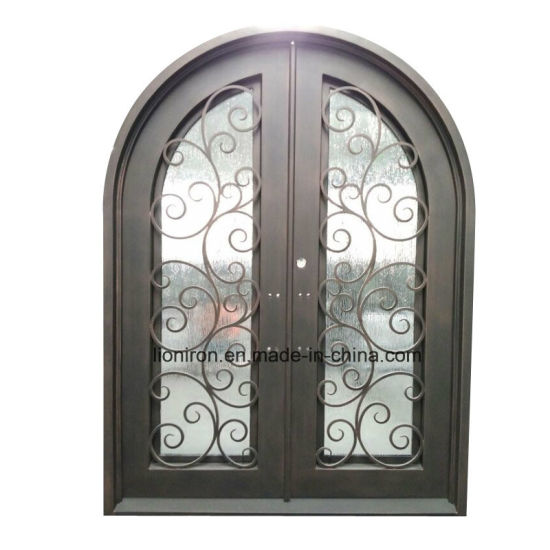 China 2018 Square Top Custom Security Steel Entry Front Door China