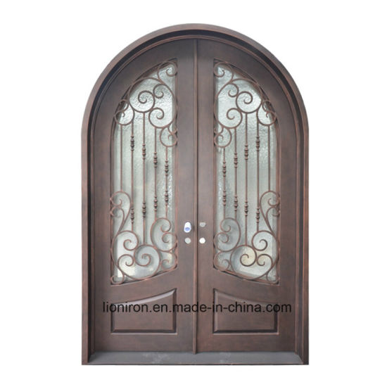 China Factory Price Ornamental Iron Entry Security Front Door