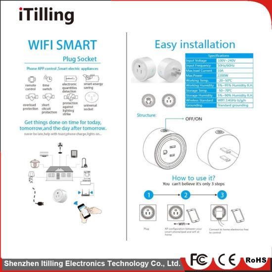 China Smart Home Wireless Smart Wifi Remote Control Plug Socket