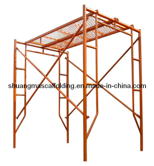 China Construction Mobile Platform Steel H Frame Scaffolding - China ...