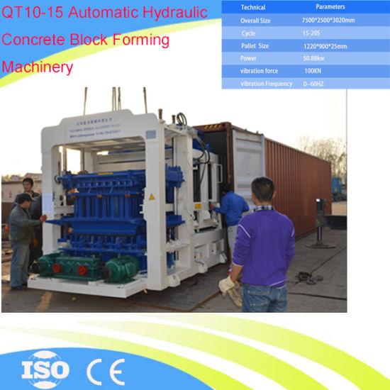 China Qt10-15 Automatic Concrete Block Making Machine