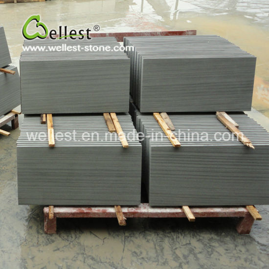 Grey Wood Sandstone Tiles for Floor and Wall pictures & photos
