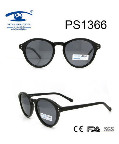 Hot Sale Round Shape Plastic Material Sunglasses (PS1366) pictures & photos