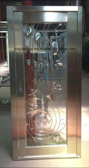India Popular Stainless Steel Door With Glazing Trim In SUS304 (ES 8027)