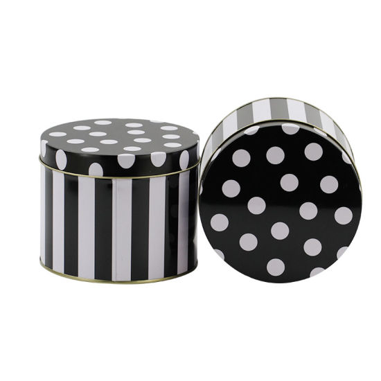 Polka Dots Metal Gift Tin Storage Box for Packing Mugs pictures & photos