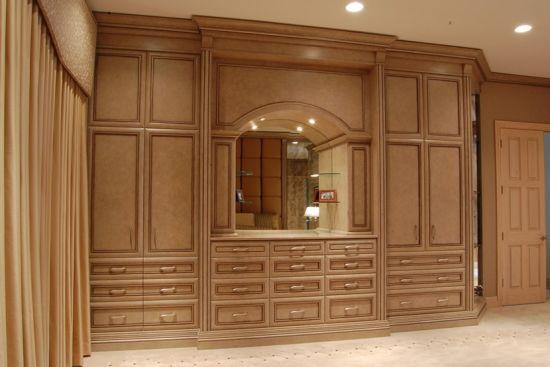 Solid Wood Wardrobe, Bedroom Furniture #Yb-10