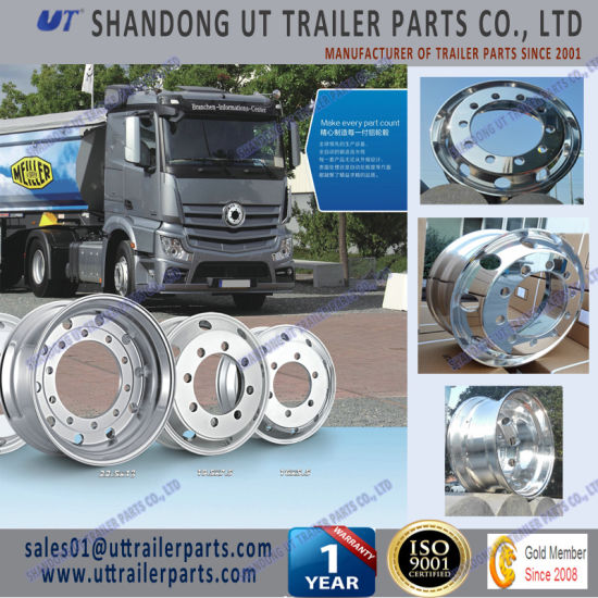 8.25X22.5 Truck Trailer Aluminum Alloy Wheel Rims Forged Type