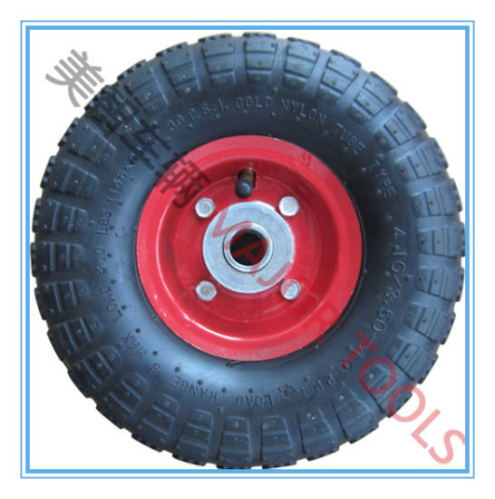 4.10/3.50-4 Inflatable Tool Cart Wheel Rubbe Tyre pictures & photos