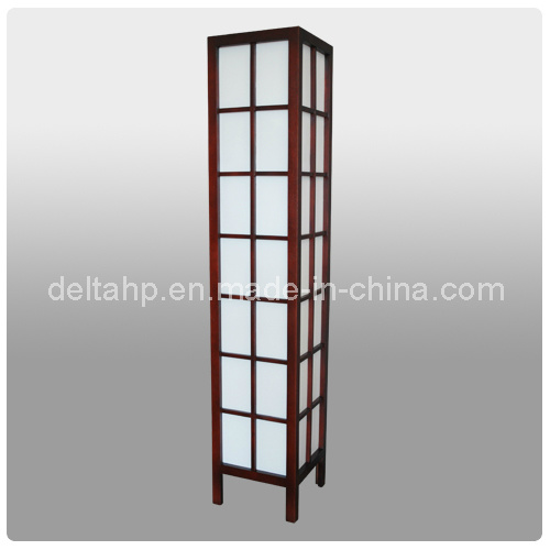 Modern Standing Floor Lamp With Cells Wooden Frame C5007120 Pictures Photos