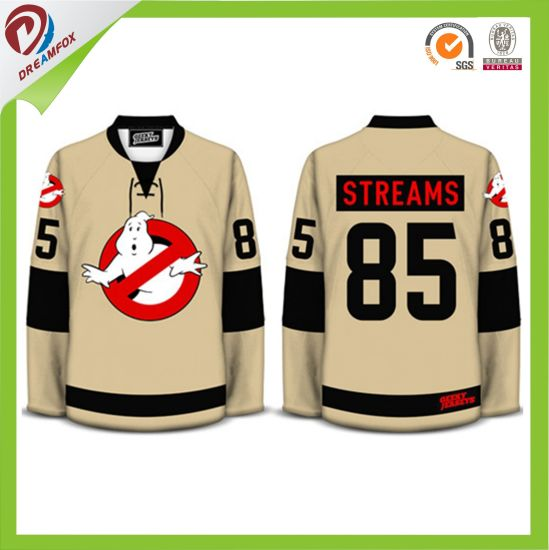 100% Polyester Full Sublimation Printing Customized Ice Hockey Jersey with Lower MOQ pictures & photos