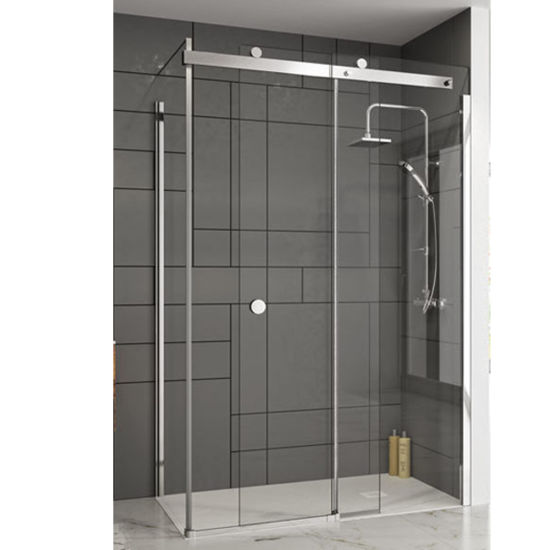 Luxury Standing Shower Room Enclosure Tempered Glass Panel