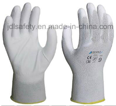Industrial Using Keep Hands Safety Personal Protective Equipment White Work Gloves with PU Coated (PN8001)