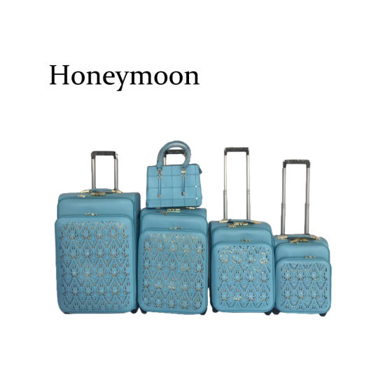 5PC Set PU Material 2 Wheels Suitcase (JB4005) pictures & photos