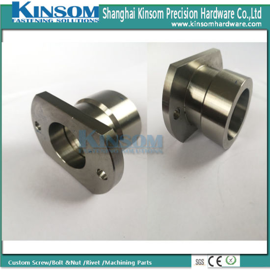 Precision Metal Processing Machinery Parts Connector with Foundation Hole Stainless Steel