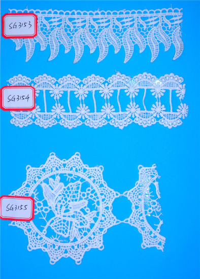 100% Polyester Water Soluble Embroidery Chemical Lace for Women Dress