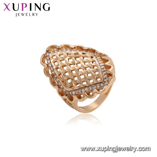 China Wholesale Xuping Fashion 18K Gold Plated Heart Ring