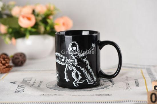 Wholesale Black Color Ceramic Coffee Mug for Promotion