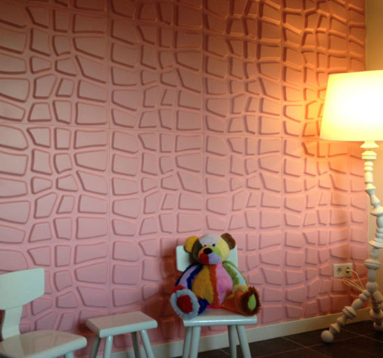 TV Background Wall Decorative Wall Board 1mm PVC Thickness 3D Embossed Wall Panel pictures & photos