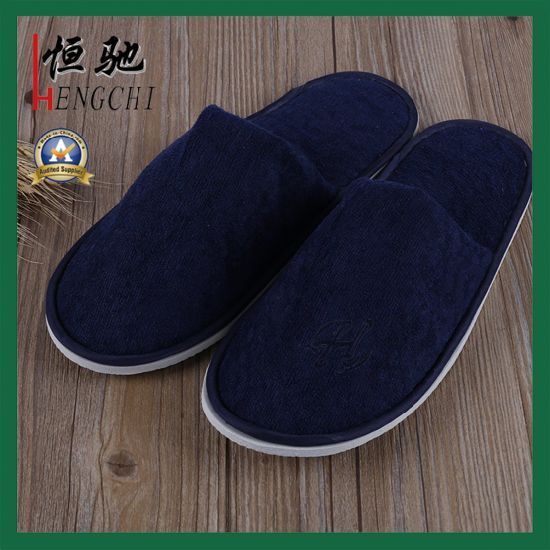 c07cf2302987 Navy Blue Disposable Terry Towel Slipper for Hotel  Hospital pictures    photos