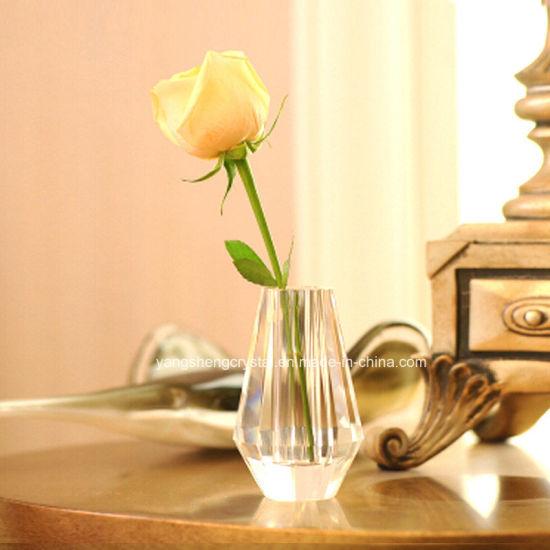 China Best Glassware Beautiful Crystal Vase For Wedding Decoration