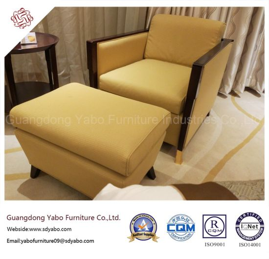 Nice Graceful Hotel Furniture With Fabric Armchair And Ottoman (YB O 4)