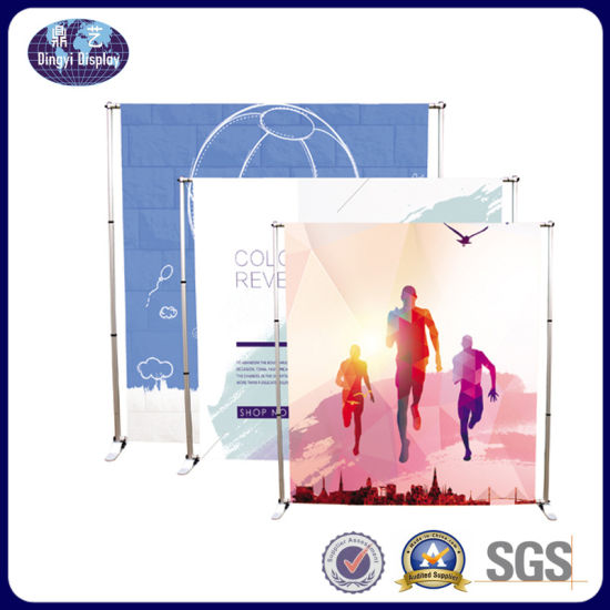 Advertising Exhibition Banner Stand Telescopic Pole Fabric Backdrop Display