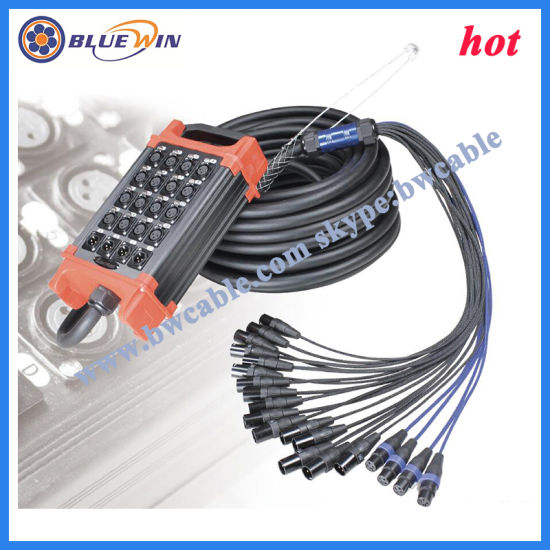 China Snake Cable with Stage Box Multicore Audio Wire - China AV ...